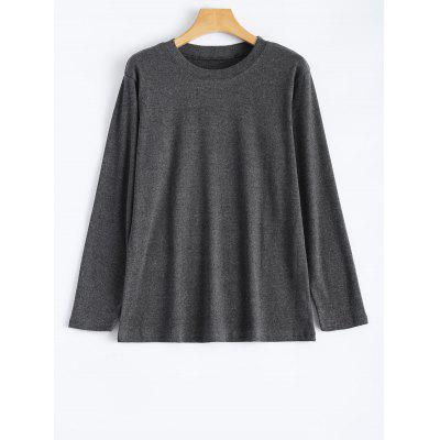 Long Sleeve Plus Size Plain T-Shirt