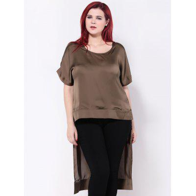 High Low Hem Chiffon Blouse
