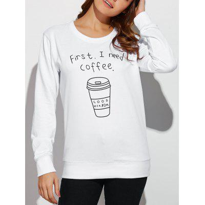 Coffee Cup Letter Funny Sweatshirt