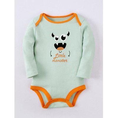 Kids Long Sleeve Cartoon Monster Baby Romper