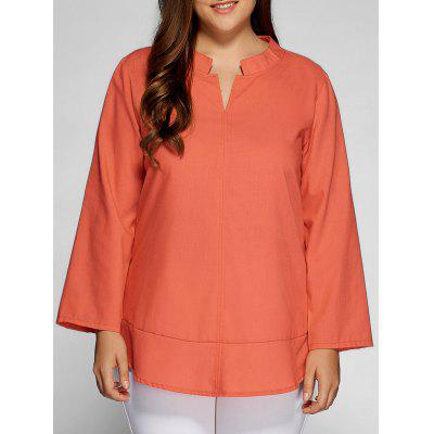 Lässige Plain Plus Size Top