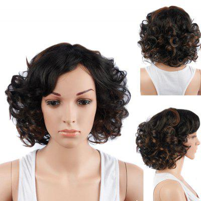 Buy COLORMIX Colormix Short Side Bang Curly Synthetic Wig for $18.15 in GearBest store