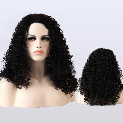 Buy BLACK Adiors Medium Fluffy Afro Curly Synthetic Wig for $23.49 in GearBest store