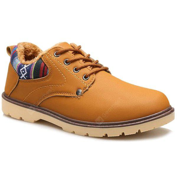 EARTHY Color Block Tie Up Casual Shoes