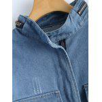 Elastic Waist Bleach Wash Jean Jacket deal