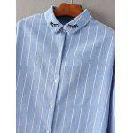 Long Sleeve Embroidered Striped Shirt deal
