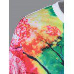 Tie-Dye Tree Pattern Sweatshirt deal