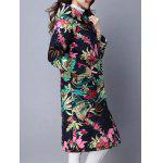 Ethnic Print Hooded Coat deal