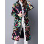 cheap Ethnic Print Hooded Coat