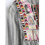 best Round Neck Striped Embroidered Jacket