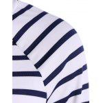 Striped Raglan Sleeve Slimming T-Shirt deal