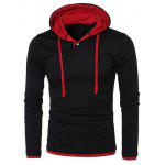 Buy RED WITH BLACK, Apparel, Men's Clothing, Men's Hoodies & Sweatshirts for $14.50 in GearBest store