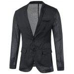 Seno Pocket Notch risvolto Torna Vent Plain Blazer - NERO