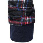 best Plaid Pocket Embellished String Hoodie