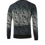 cheap Ombre Abstract Pattern Crew Neck Knitwear