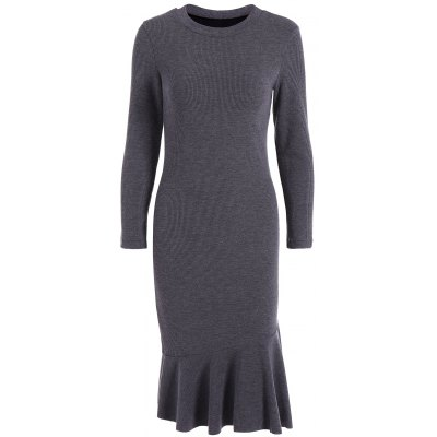 Long Sleeve Mermaid Midi Sweater Dress