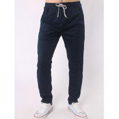 Stripe Embellished Drawstring Casual Pants