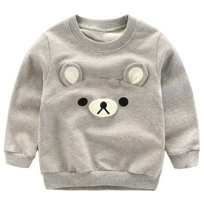 Bear Pattern Cartoon Pullover Sweatshirt