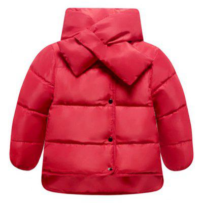 Stand Up Collar High Low Padded Coat