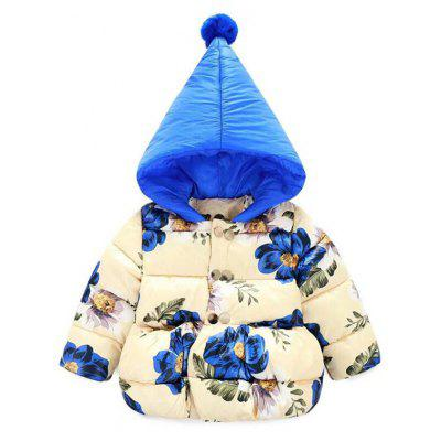 Hooded Floral Padded Coat