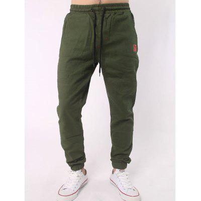 Buy ARMY GREEN Plus Size Letter Embroidery Army Jogger Pants for $9.88 in GearBest store