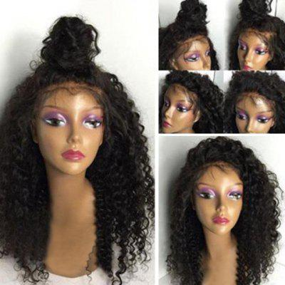 Long Shaggy Kinky Curly Lace Front Human Hair Wig