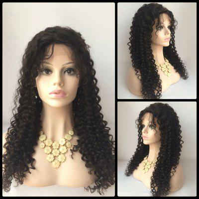 Side Parting Curly Long Lace Front Human Hair Wig