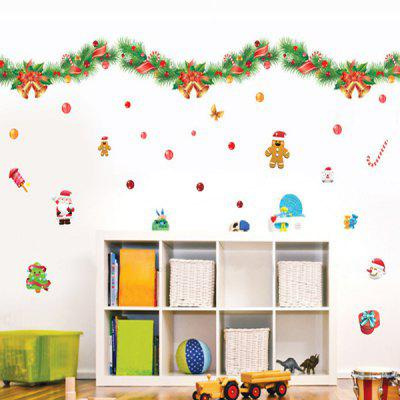Buy COLORFUL Colorful Ribbons Christmas Removable Glass Window Wall Stickers for $5.17 in GearBest store
