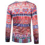 cheap Round Neck Ornate Printing T-Shirt