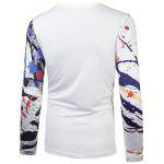 cheap Round Neck Animal Painting Print T-Shirt