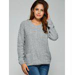 Comfy Double Pockets Cable Knit Sweater deal