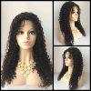 Side Parting Curly Long Lace Front Human Hair Wig - NEGRO