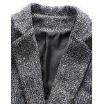 Lapel Collar Flap Pocket Tweed Heather Coat deal