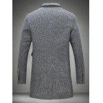 cheap Lapel Collar Flap Pocket Tweed Heather Coat