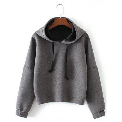 Drop Shoulder Drawstring Pullover Hoodie