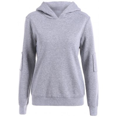 Elbow Patch Pullover Hoodie
