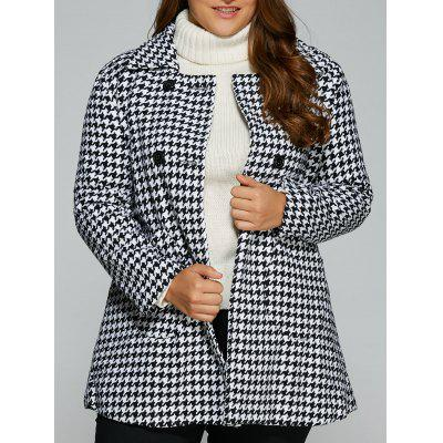 Warm Slim Houndstooth Coat