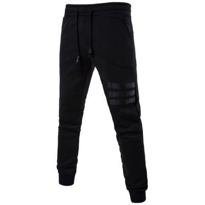Mid Rise Drawstring Striped Jogger Pants