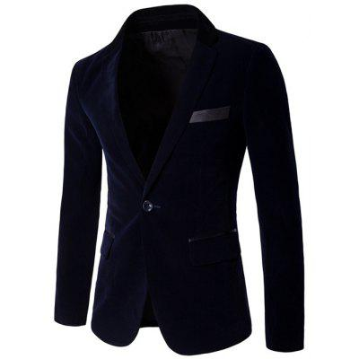 Velvet One Button Edging Blazer