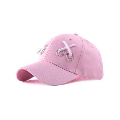 Iron Ring Lace-Up Adjustable Baseball Cap
