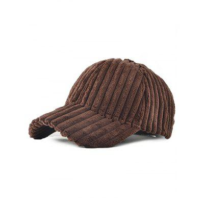 Corduroy Thick Stripe Adjustable Baseball Cap