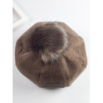 Winter Warmer Fur Ball Plush Beret
