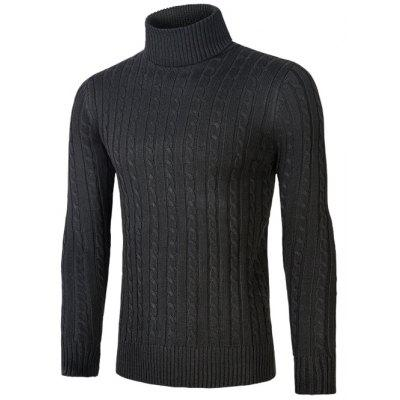 Roll Neck Kink Design Sweater