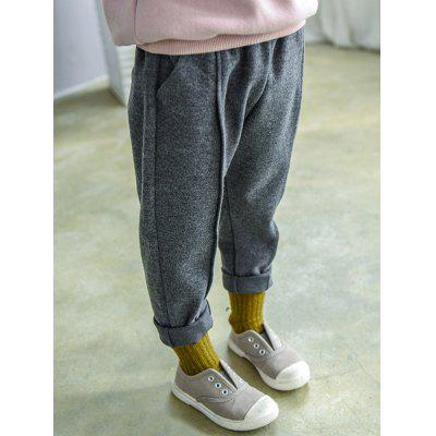 Elastic Waist Narrow Feet Sweatpants