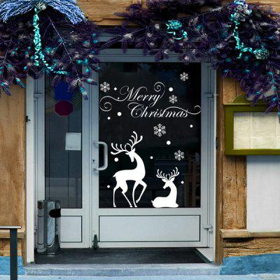 Christmas Reindeer Removable Wall Stencils