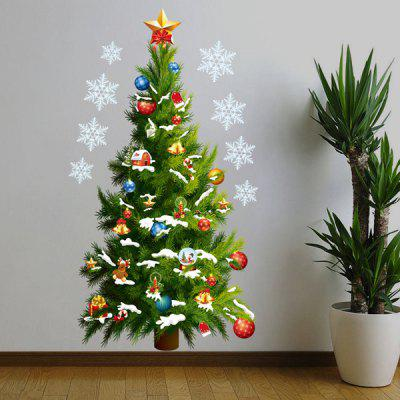 Buy GREEN Christmas Tree Removable Room Decor Vinyl Wall Stickers Custom for $4.13 in GearBest store