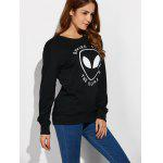 Alien Letter Casual Funny Sweatshirt deal