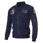 Patch spallina Zip Up Giacca trapuntata - BLU