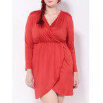 Plus Size Empire-Taille Tulpenkleid - ROT