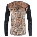 V Neck Color Block Paisley Printed T-Shirt deal